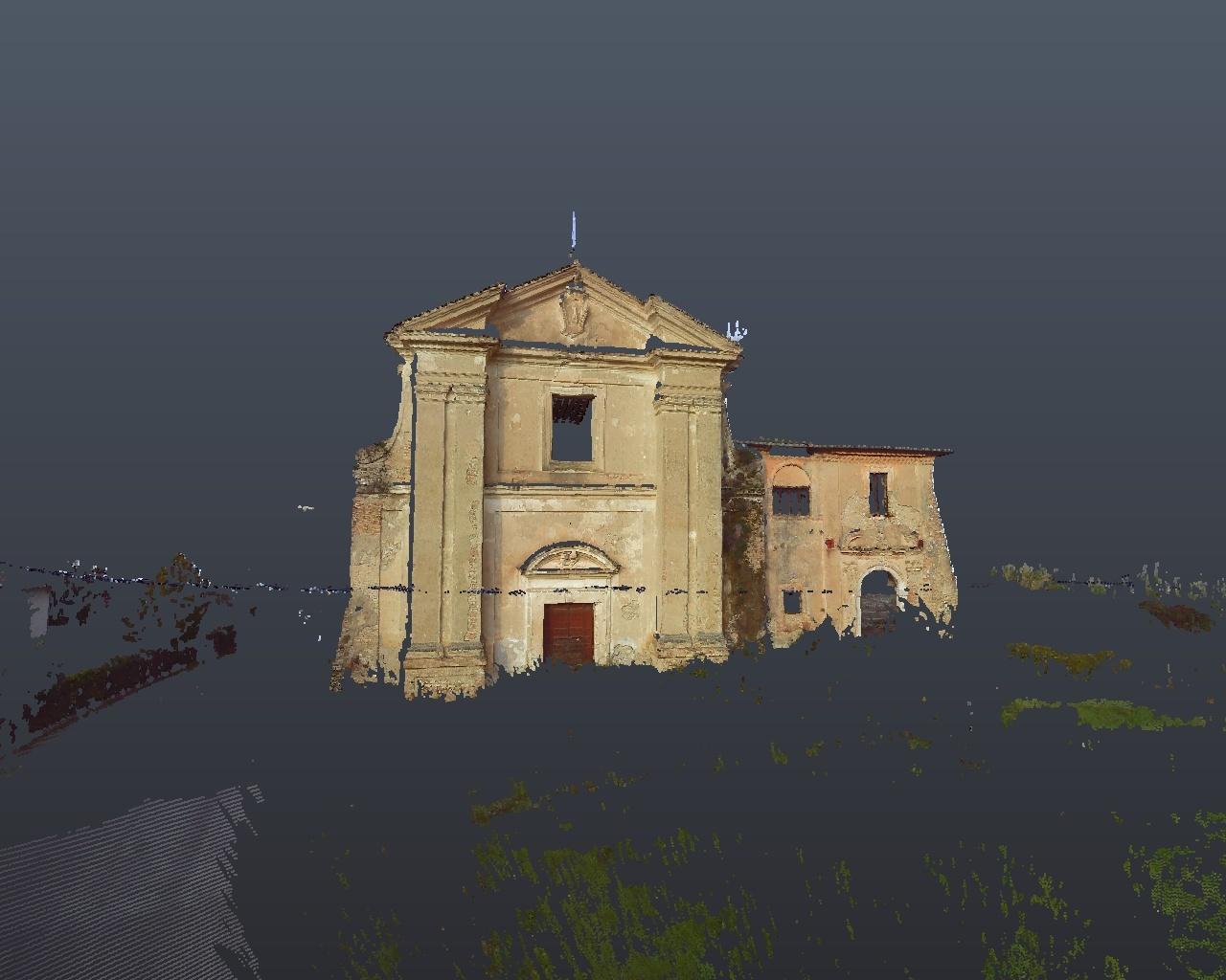 Rilievo laser scanner: Chiesa San Biagio Cantalupo (Rieti) - facciata frontale