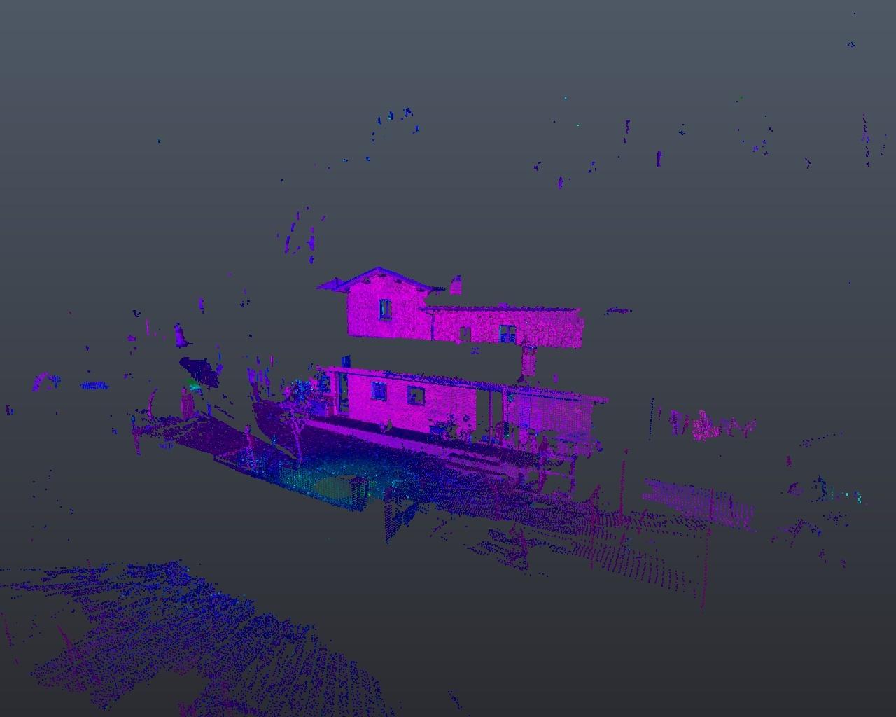 Rilievo laser scanner: facciata fabbricato