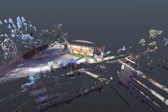 Rilievo laser scanner: Palazzetto dello Sport Rieti - facciata frontale